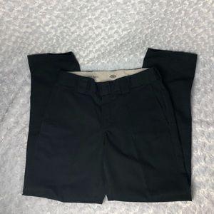Dickies Mens Slim Taper Black Pants